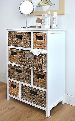 Wicker Baskets Bathroom Storage