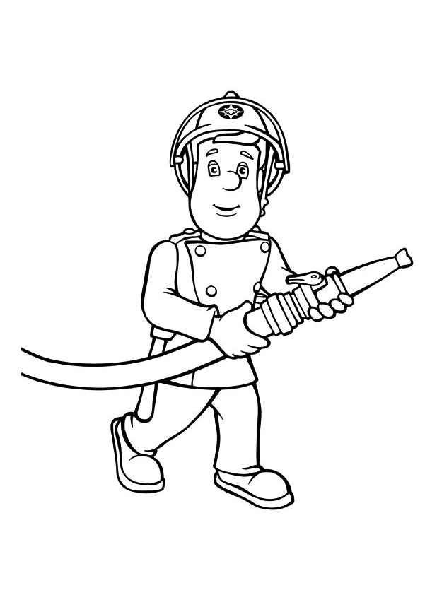 Coloriage pompier sam dessin a imprimer coloriage pompier dessin de pompier et pompier - Coloriage de sam le pompier a imprimer ...
