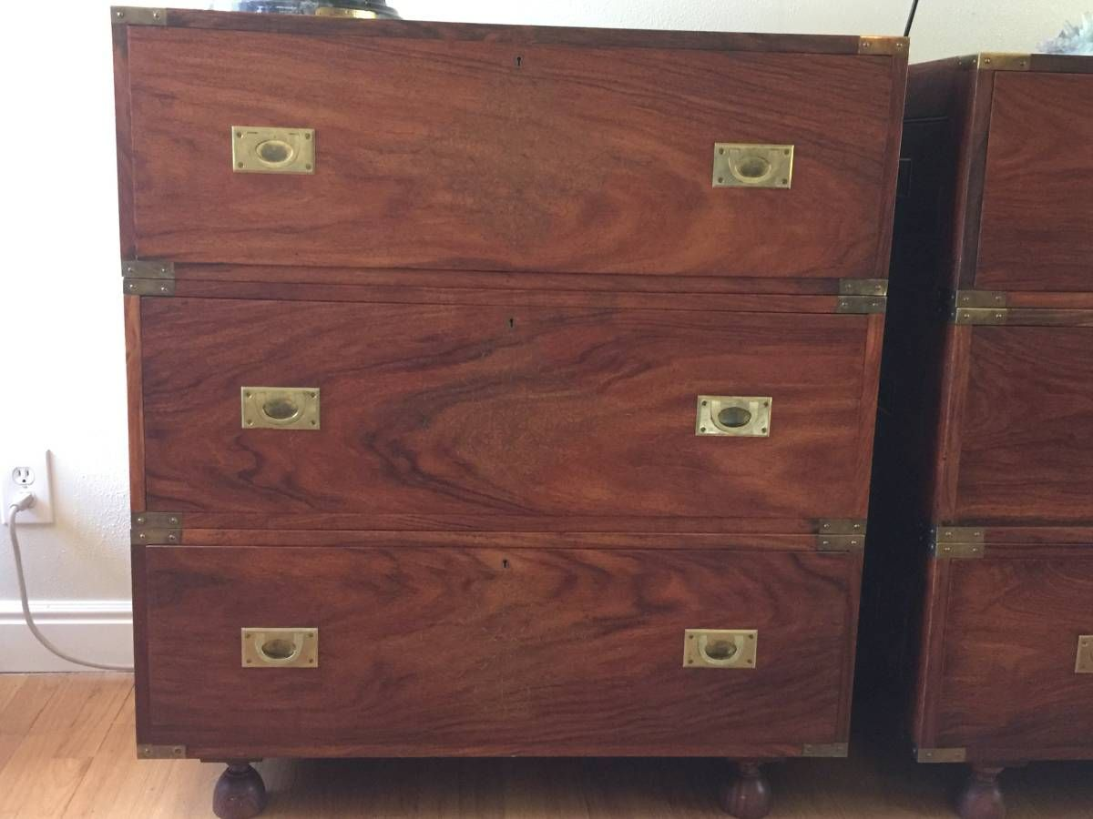 3 Stack Fine Rosewood Chests w/ Brass Fittings,Inlay