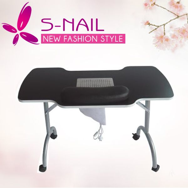 HOT sell portable nail manicure Table,nail art table with dust ...