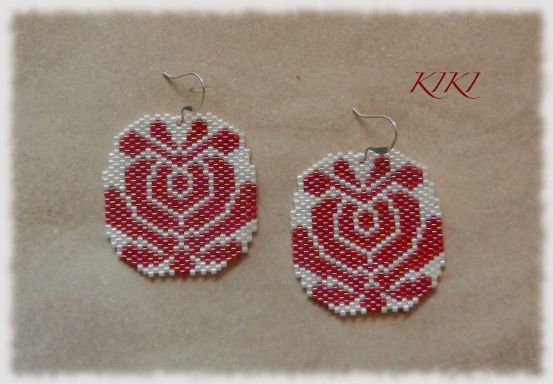 Peyote matyó tulip earrings - 1
