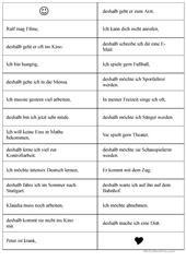 Spiel denn/weil/deshalb Arbeitsblatt - Kostenlose DAF Arbeitsblätter ...