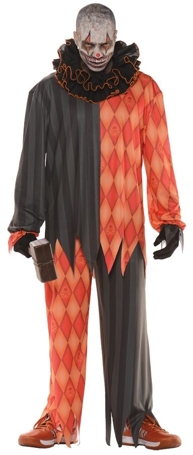 evil clown costume adult std