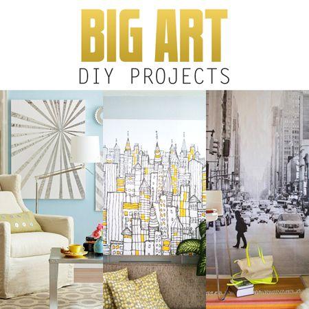 Big Wall Art Diy Projects The Cottage Market Big Wall Art Diy