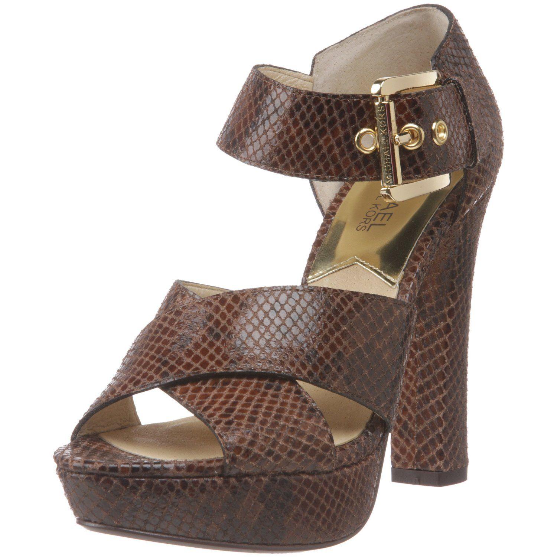 8aefe3f0a041 MICHAEL Michael Kors Women s Ines Embossed Platform Sandal