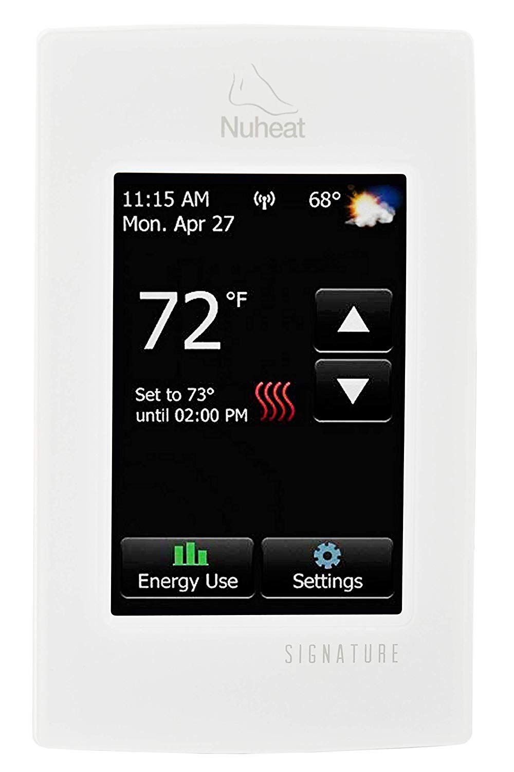 Nuheat Signature Programmable Dual Voltage Thermostat With Wifi And Touchscreen Interface Works With Nest For M Energy Use Signature