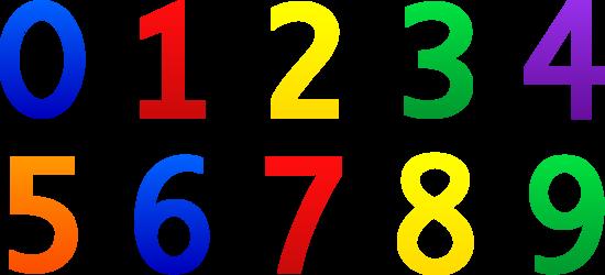 Numbers Zero Through Nine