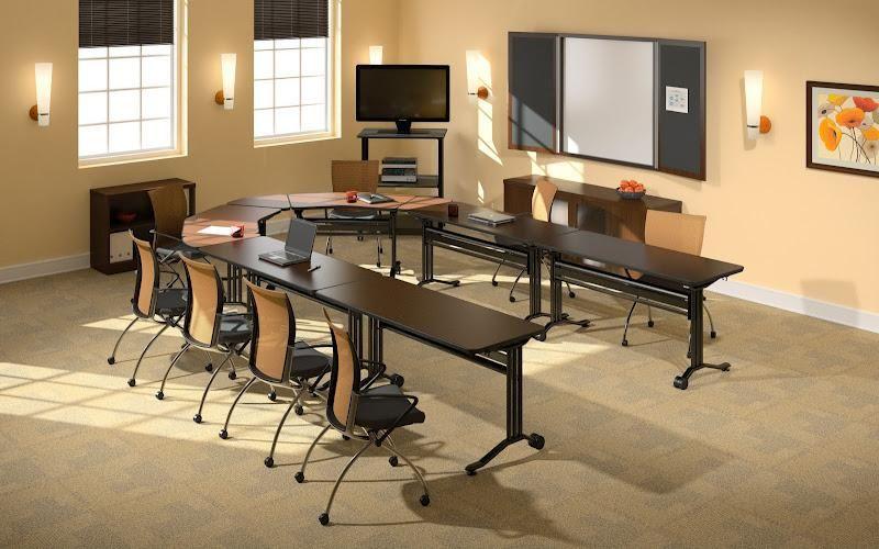 Mayline Horseshoe Training Room Tables, Business Furniture Warehouse