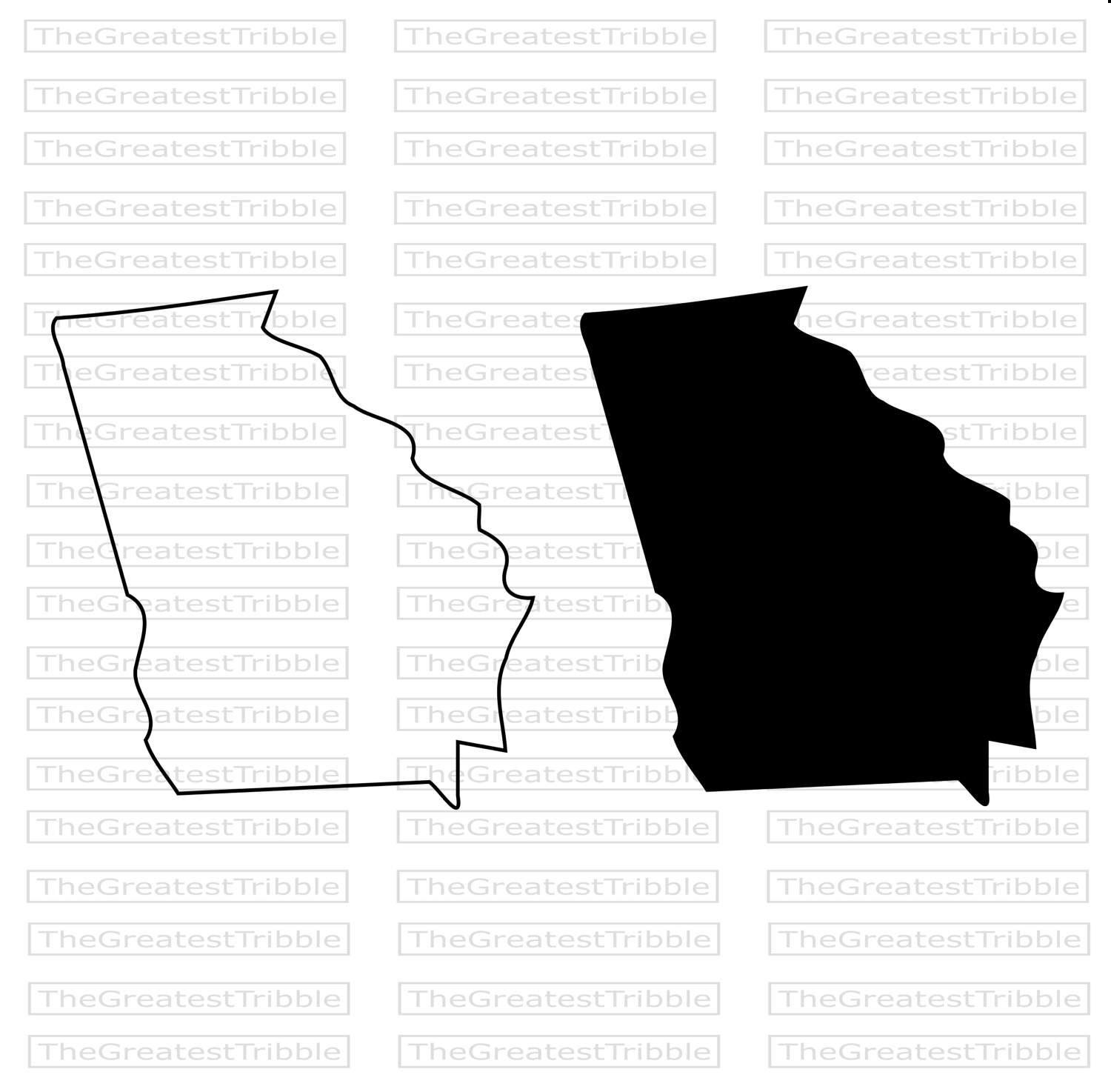 Georgia State Map Svg Png Jpg Eps Vector Graphic Clip Art Etsy Georgia Map State Map Georgia State