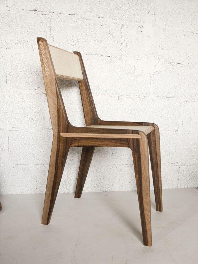 Chaise noyer et multiplis bouleau antoine mazurier b niste designer antoine mazurier - Ebeniste designer meubles ...