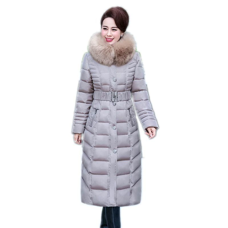 ecaf8f147d1 2018 New Winter Women s Coat Plus Size Hooded Fashion Warm Women Down Jacket  High-quality Biological-Down Female Parkas Ceprask