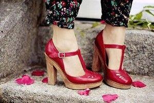 Red romantic heels