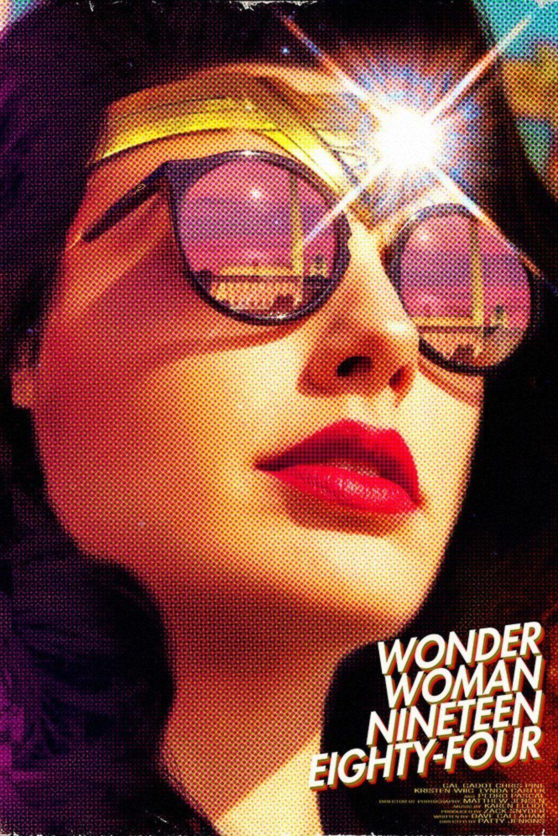 Cinexphile Wonder Woman 1984 2019 Retro Fan Poster By Messypandas Woman Fan 2019 In 2020 Wonder Woman Women Fan Poster