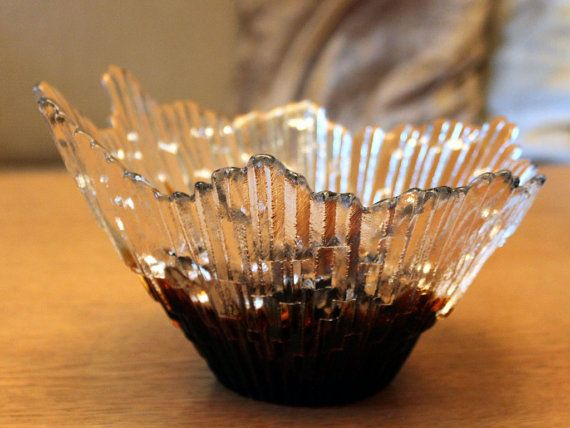 Vintage Glass Revontulet Northern Lights by FinntageFromFinland