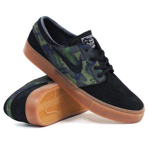 fcc9b19bc553 Amazon.com  Nike SB Zoom Stefan Janoski ERDL Mens Skate Shoes  Shoes ...