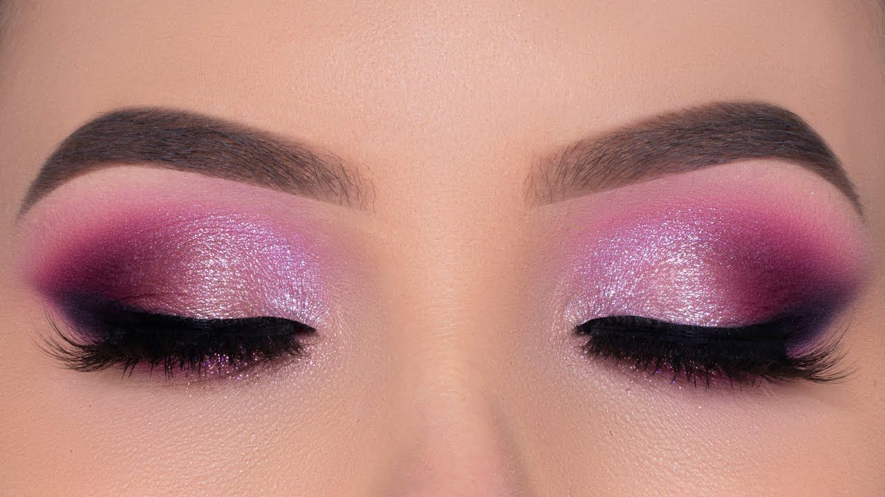 Photo of Smokey Glamorous Purple Eye Makeup | Bridal Makeup Inspiration