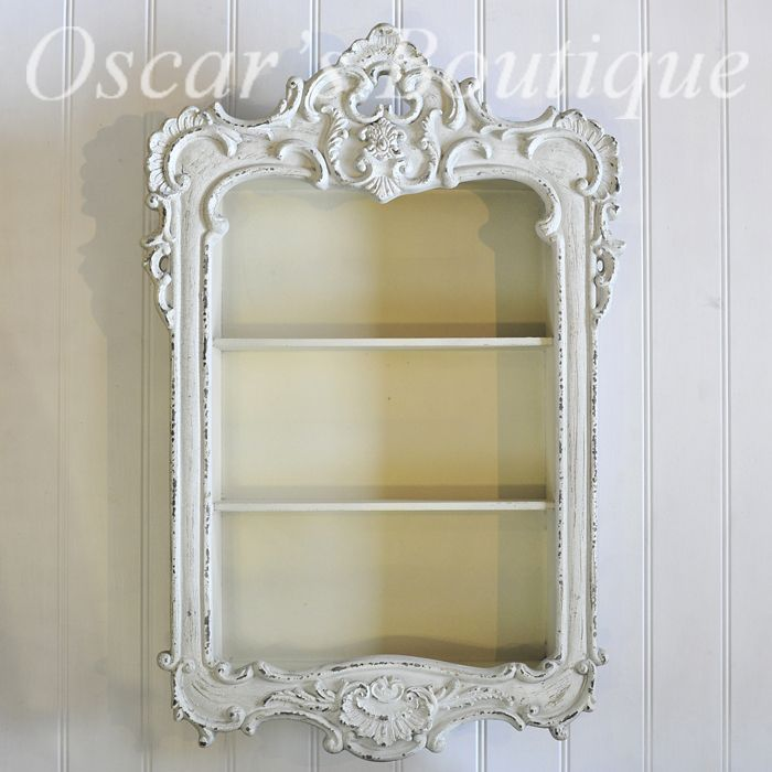 French Ornate wall hanging shelf display unit from Oscar's Boutique.