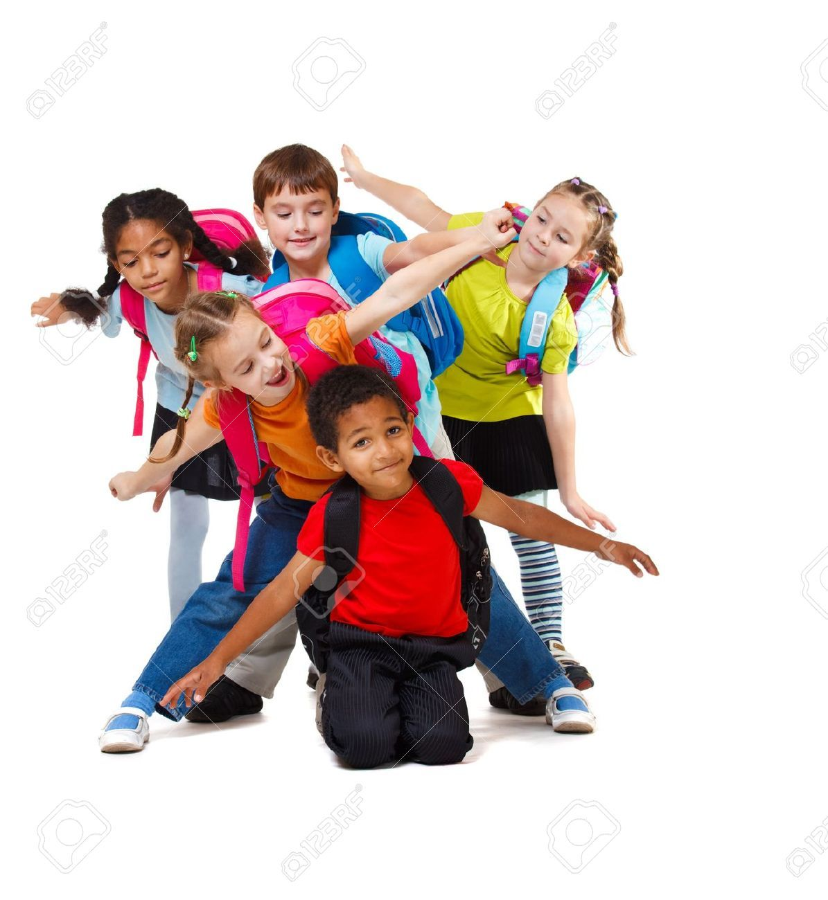 14505957 group of school aged kids with backpacks - School Pictures For Kids