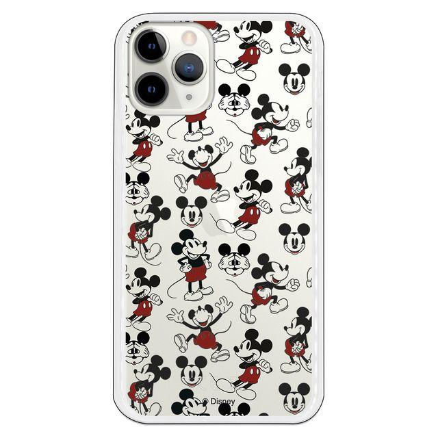 Funda para iPhone 11 Oficial de Disney Mickey Letras Transparente