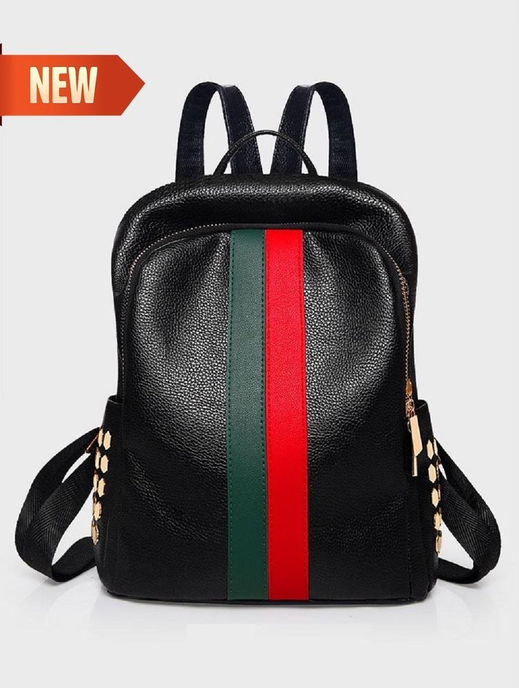 faaa5250d7 Women Leather Faux Backpack Casual Backpacks Bag Teenager School Travel  Daypack