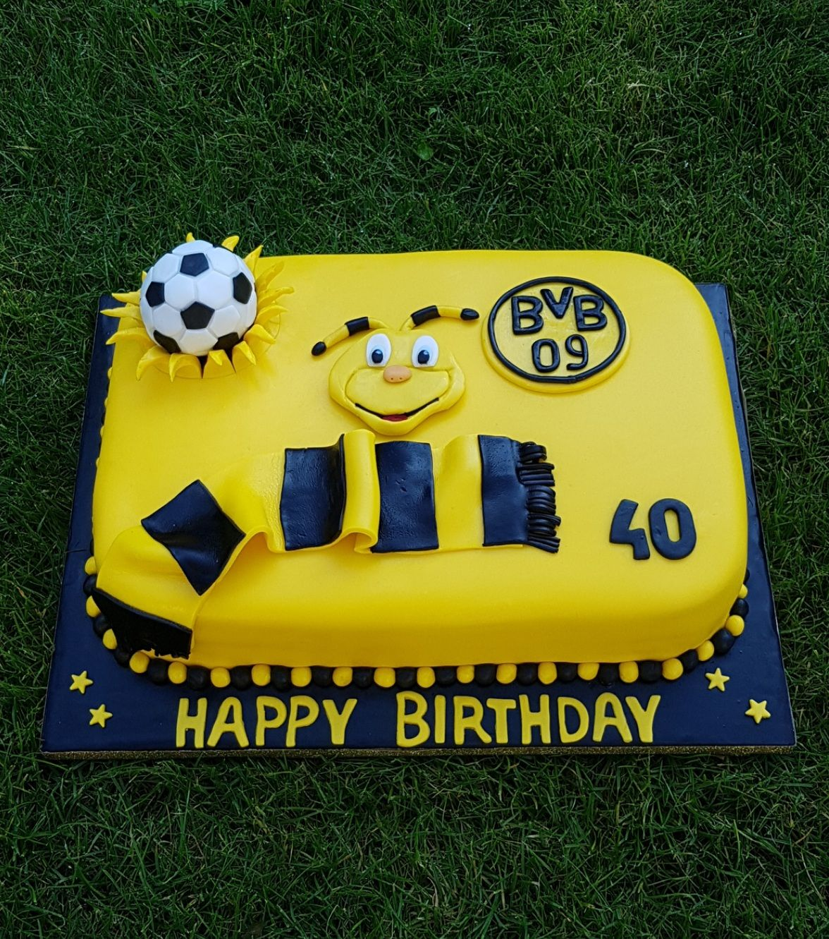 BVB Geburtstag Torte  Motivtorten Fondant Deko in 2019