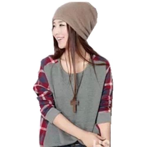 $5.2 for Pretty cloth women long sleeve grey autumn tops
