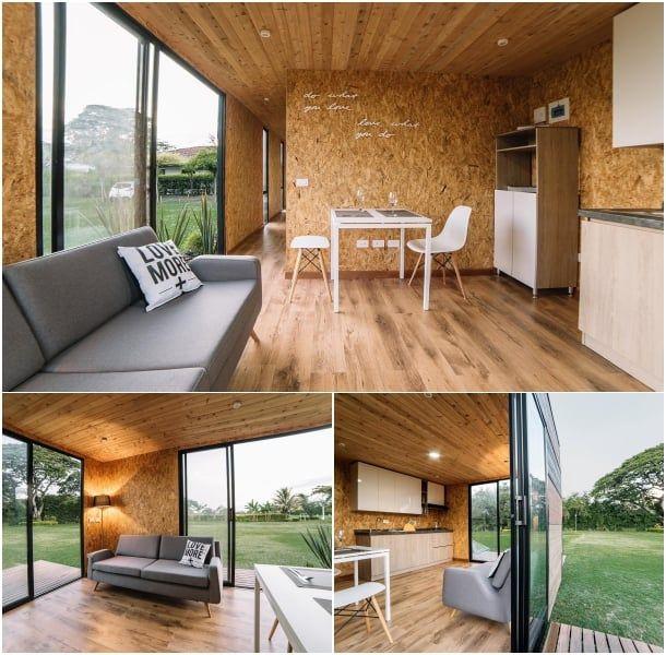 interior-casas modulares VIMOB casa Pinterest - casas modulares