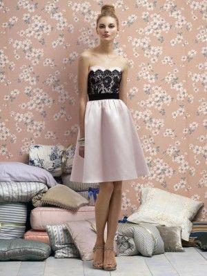 Neu Stil Prinzessin Herzförmig Gefaltet kurz schwarz Lace Brautjungfer Kleid Brautkleider