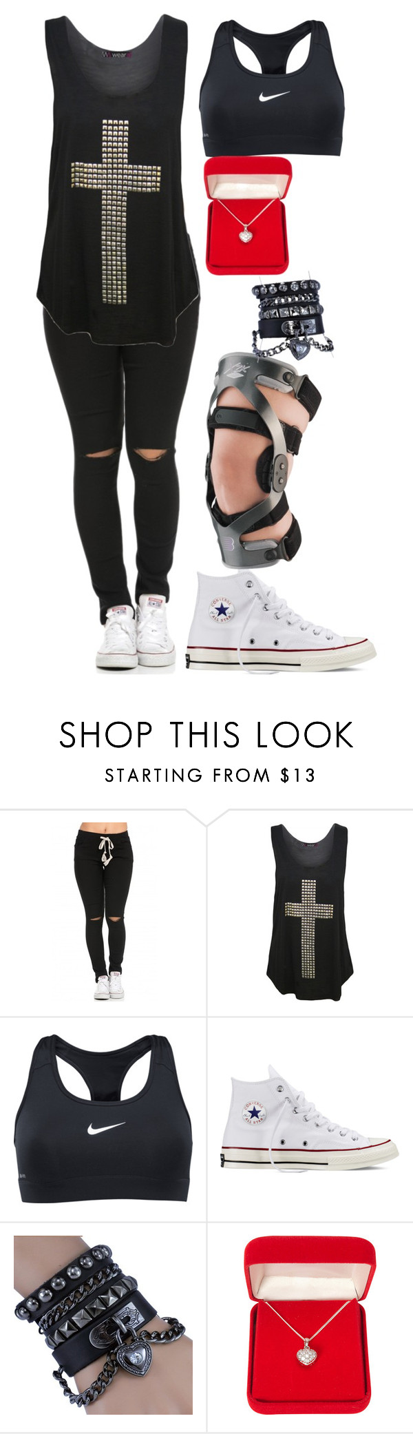 """""""Untitled #297"""" by leeluma ❤ liked on Polyvore featuring WearAll, NIKE, Converse and Alexa Starr"""