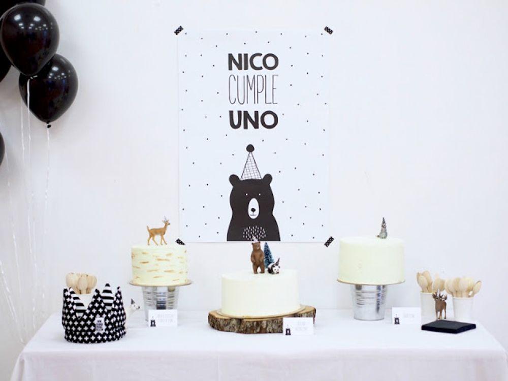 Primer cumplea os decoracion nordica minimalista - Decoracion primer cumpleanos ...