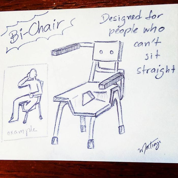 This Dad Just Built His Bisexual Daughter A 'Bi-Chair' And The Internet Loves It | Bored Panda