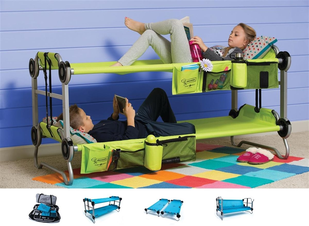 Kid O Bunk Portable Bunk Bed Cot Couch Side By Side Cots Awesome