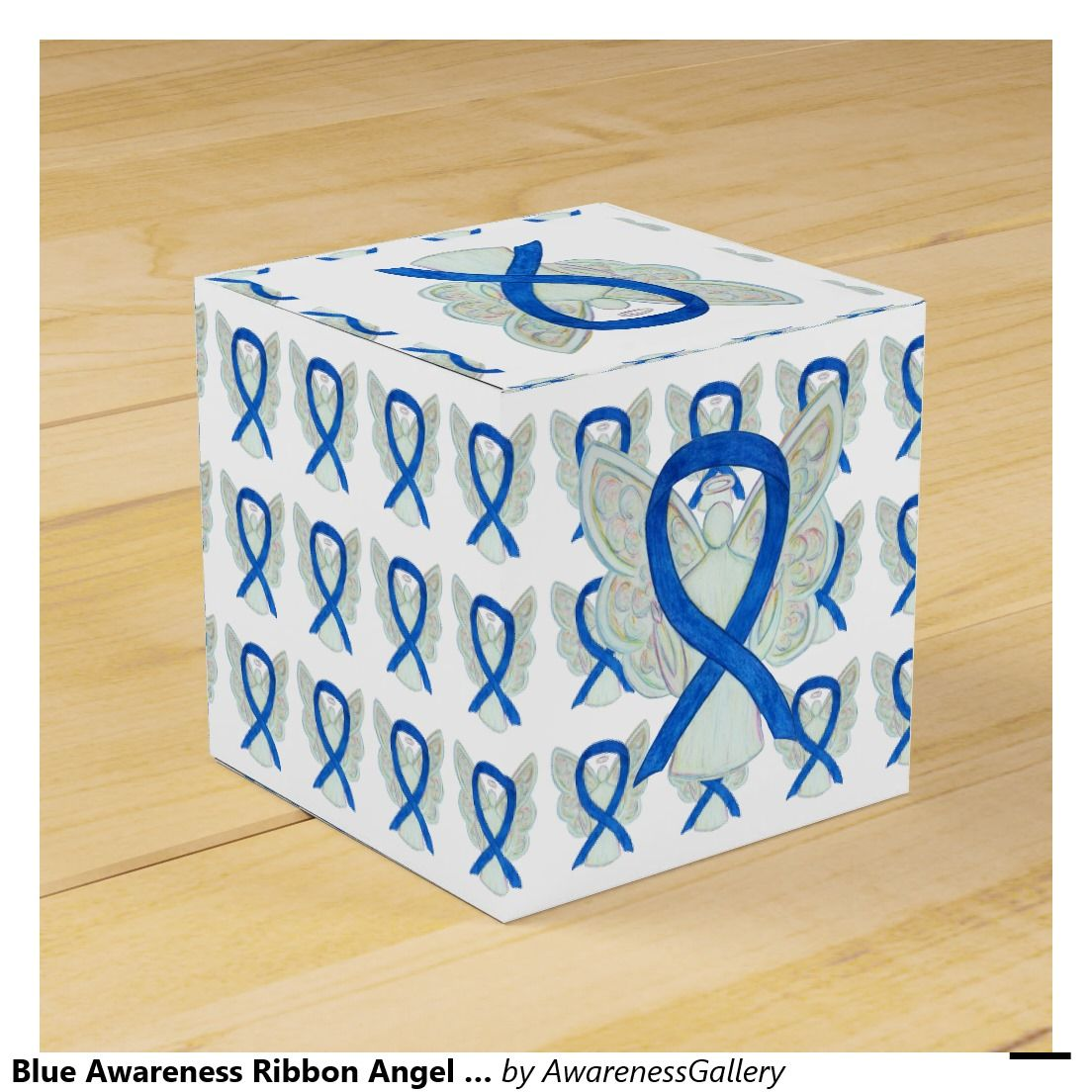 Blue Awareness Ribbon Angel Party Favor Boxes