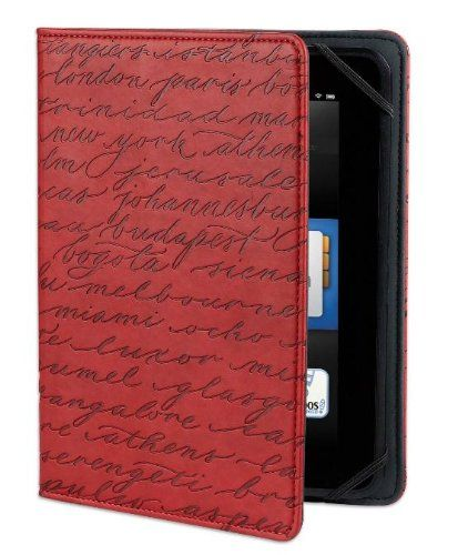 Verso Artist Series Cities Case For Kindle Fire HD 7 Red Best Birthday GiftsBest