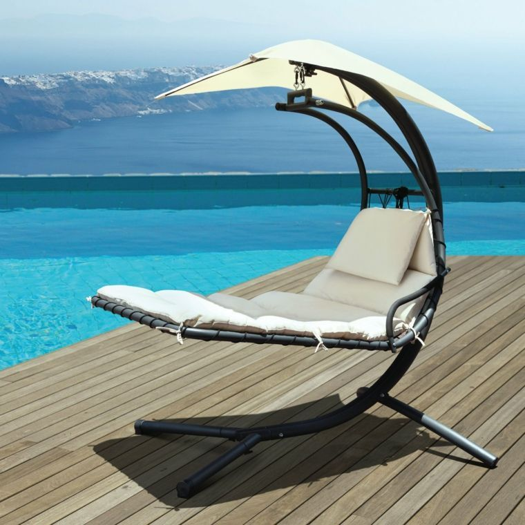Transat Blanc Meuble Piscine Patio Swing Patio Swing Chair Lounge Chair Outdoor