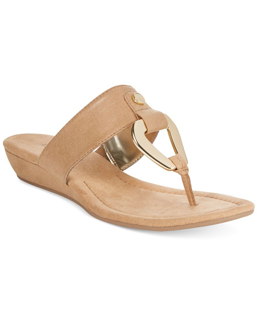 8cd32748678a54 Alfani Women s Forray Thong Sandals