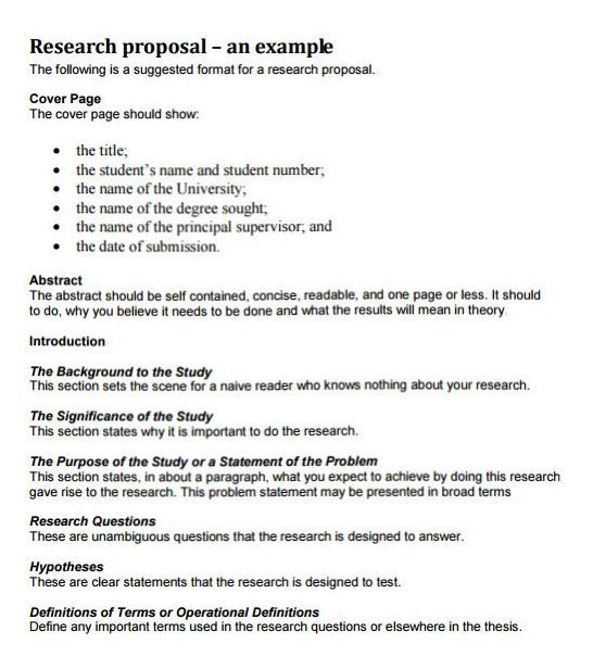 Research Proposal Template - Research Proposal Template Free