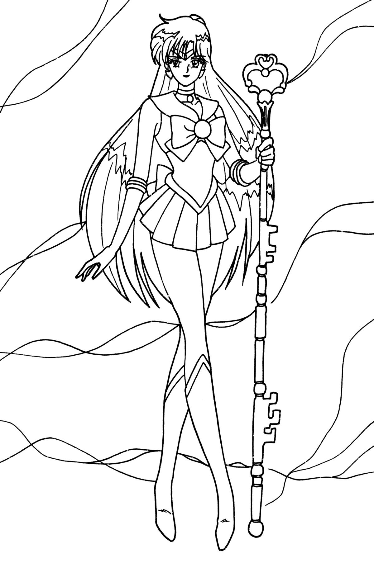 pluto004.jpg (1200×1808) Sailor moon coloring pages