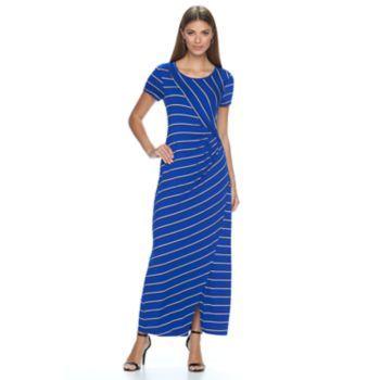 Women's Apt. 9 Ruched Striped Maxi Dress