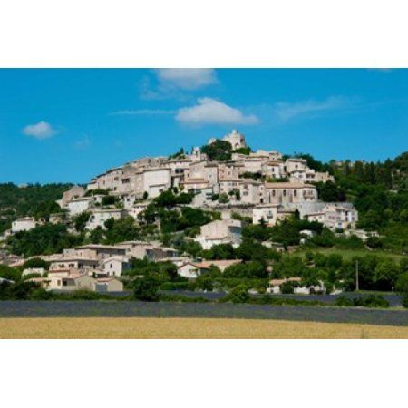Town on a hill D51 Sault Vaucluse Provence-Alpes-Cote dAzur France Canvas Art - Panoramic Images (36 x 24)