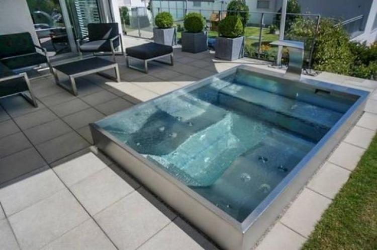 Wonderful Backyard Swimming Pools Designs Pool designs, Swimming - reihenhausgarten und pool