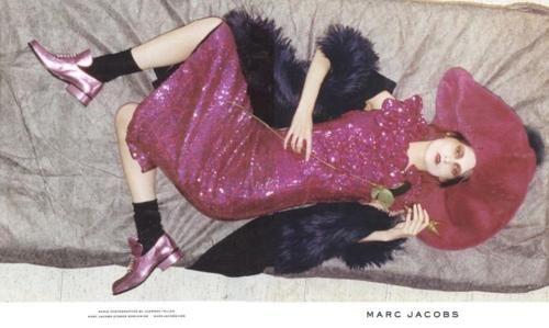 Marie Piovesan in the new Marc Jacobs Campaign. Ph. Juergen Teller.