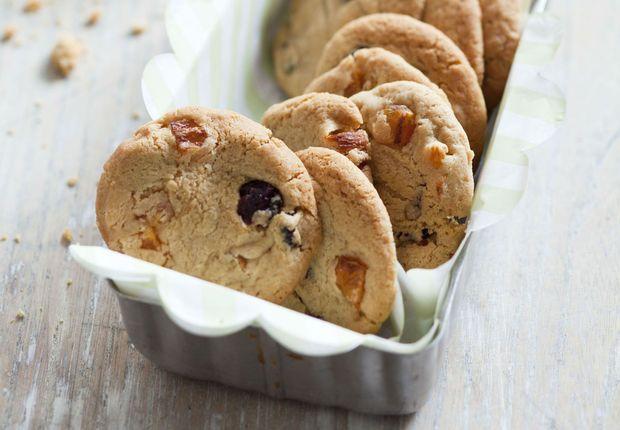 Cookies aux cranberries et abricots secs - 20 desserts à moins de 300 calories - Femme Actuelle