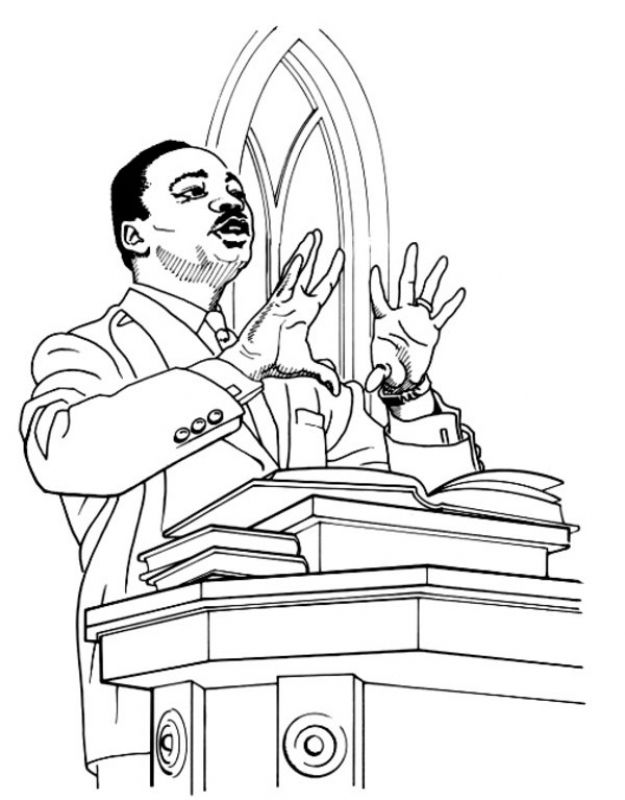 Dr Martin Luther King Jr Printable Coloring Sheets For Kids