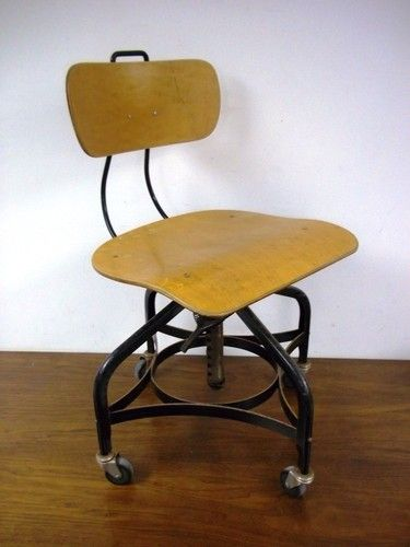 Mid Century Moden Industrial Art Desk Swivel Office Chair