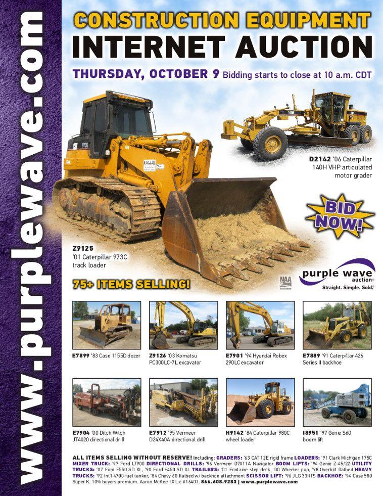 Construction Equipment Auction October 9, 2014 http://purplewave.com/a/141009