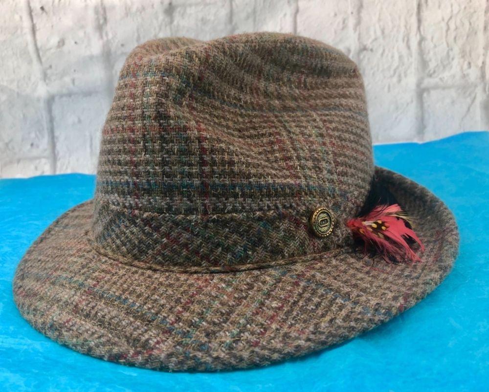 c140bbecc Vintage Park Royal Hats Fedora Brown Plaid Hat Size 7   Clothing, Shoes &  Accessories, Vintage, Vintage Accessories   eBay!