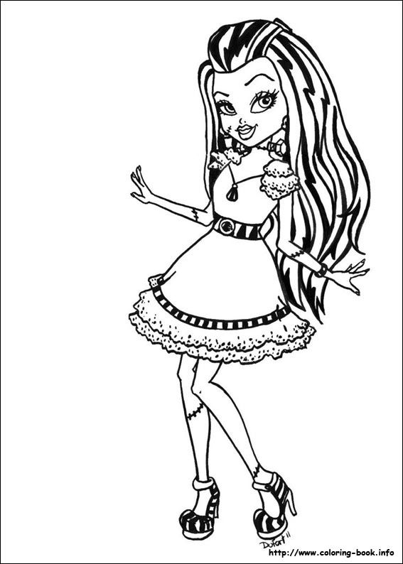 monster high coloring pages 01 - Monster High Printable Coloring Pages