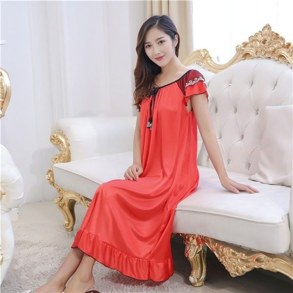 e4af867d6ccc Limited offer for cheap price Sexy Nightwear Long Dress Luxury Nightgown  Women Casual Night Dress Ladies Home Dressing Hot Women Night Gowns.