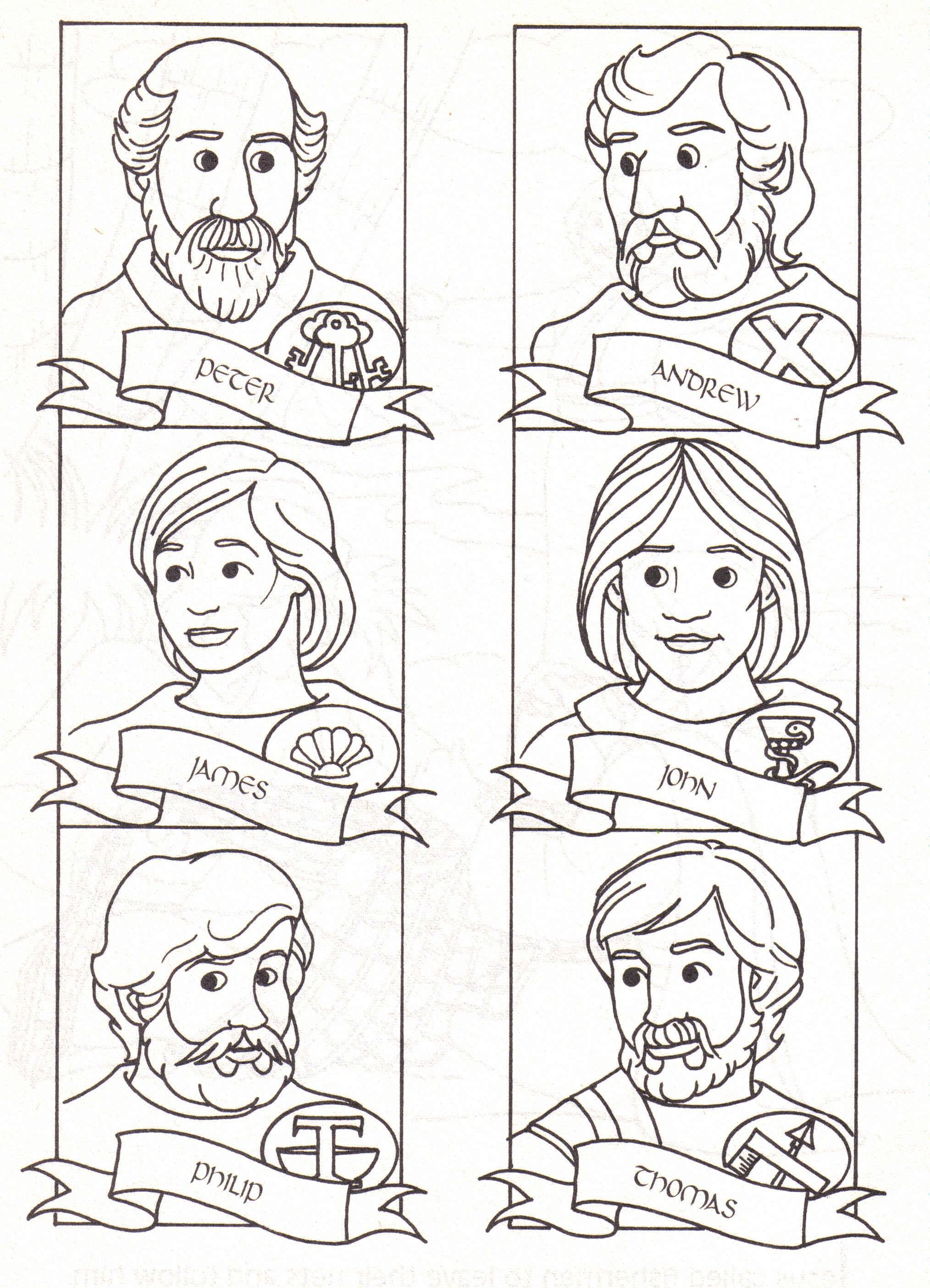12 Disciples Coloring Page Download I Was Thinking About